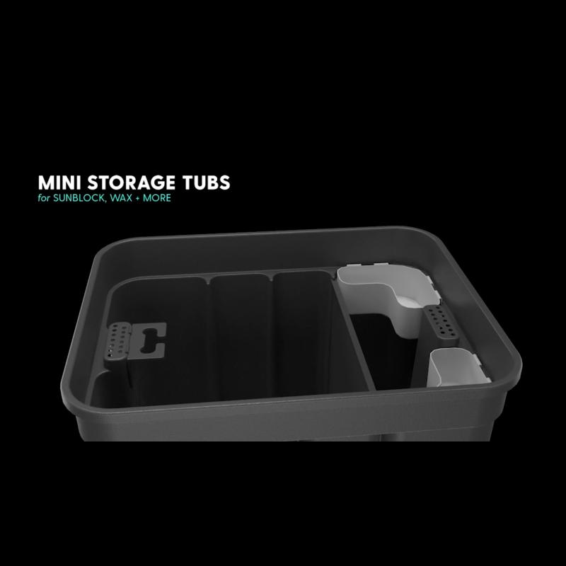 mini storage tubs to organize smaller items