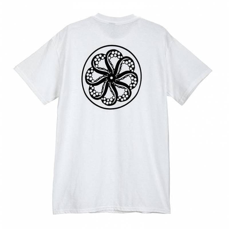 Octopus logo tee - white - back