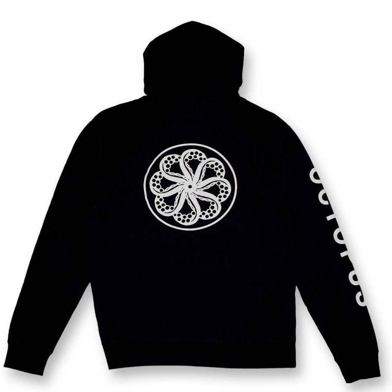 Octopus Massive Logo Hoodie - Black - back