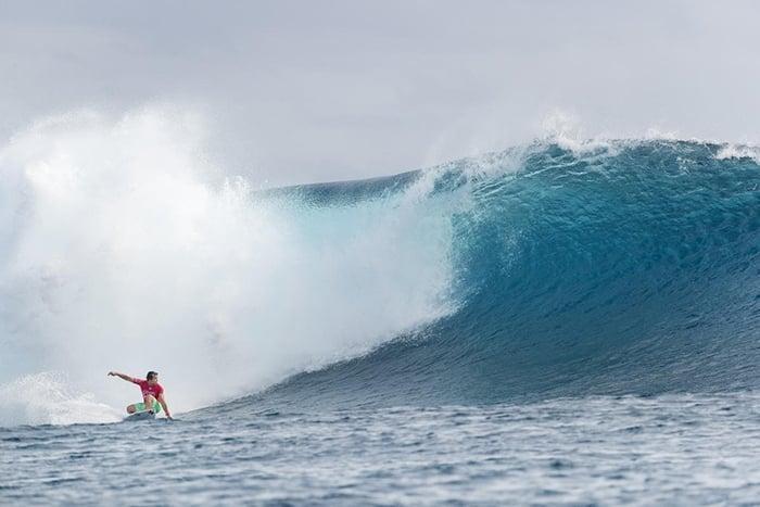 surfer bottom turning