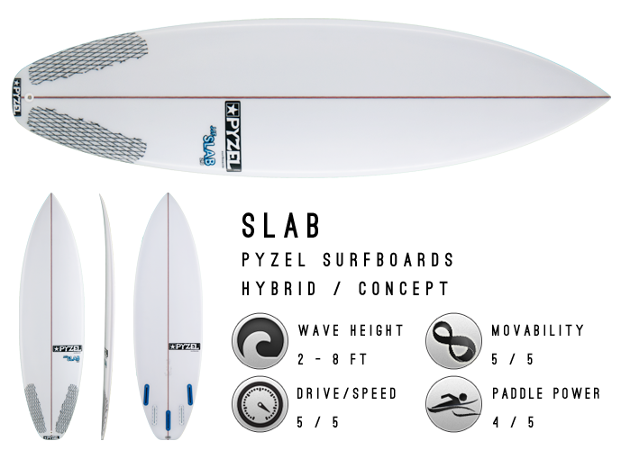the slab by pyzel surfboards
