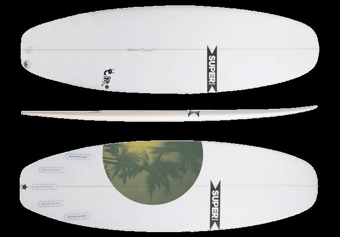 superbrand slug hybrid surfboard